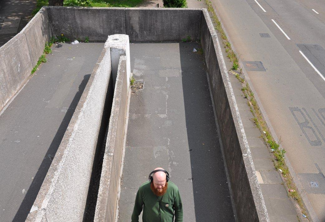 Listening to COV C60 on the ramp of the Canal Basin bridge
